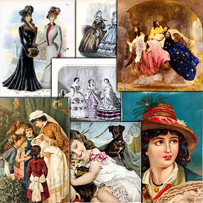 Pay for 279 Victorian Vintage Images Collection