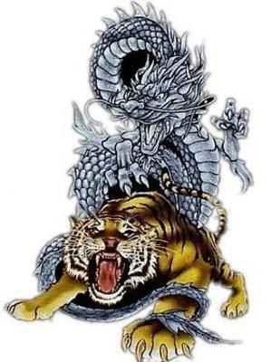 Tribal tatoo - White tiger dragon tatoo - Beautiful tribal ...