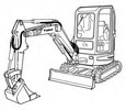 Thumbnail Bobcat 425 428 Compact Excavator Service Repair Manual Download(S/N A1HW11001 & Above ...)