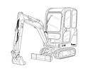Thumbnail Bobcat E16 Compact Excavator Service Repair Manual Download(S/N AHLL11001 & Above)