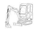 Thumbnail Bobcat E14 Compact Excavator Service Repair Manual Download(S/N AHNM11001 & Above)