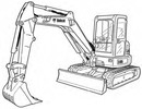 Thumbnail Bobcat E45 Compact Excavator Service Repair Manual Download(S/N B2VY11001 & Above)