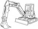 Thumbnail Bobcat E42 Compact Excavator Service Repair Manual Download(S/N B2VW11001 & Above)