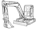 Thumbnail Bobcat E60 Compact Excavator Service Repair Manual Download(S/N AGSZ11001 & Above AET811001 & Above)