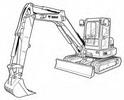 Thumbnail Bobcat E55 Compact Excavator Service Repair Manual Download(S/N AJ1911001 & Above)