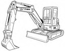 Thumbnail Bobcat E50 Compact Excavator Service Repair Manual Download(S/N AJ1811001 & Above)