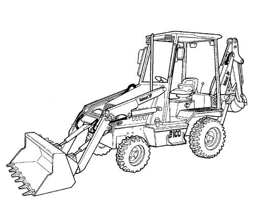 Bobcat B250 B Series Loader Backhoe Service Repair Manual 3