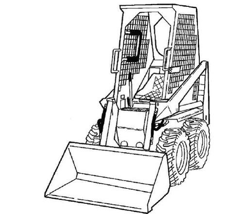 bobcat skid steer loader part diagram