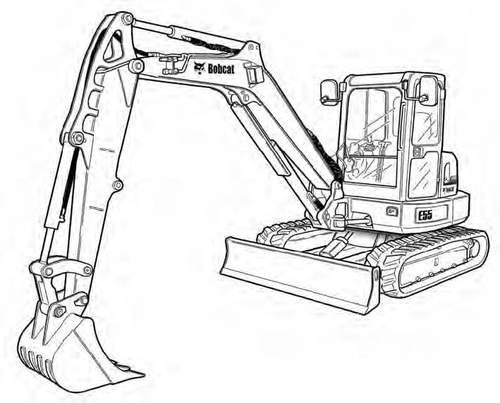 E 55 --- Details about  /Bobcat E55 Compact Excavator Service Manual on a CD