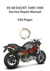 Thumbnail 2005-2008 Ducati S4RS Service Repair Manual