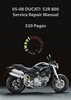 Thumbnail 2005-08 Ducati Monster S2R 800 Service Repair Manual