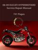 Thumbnail 2008-09 Ducati Hypermotard 1100/1100S Service Repair Manual