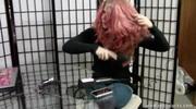 Sybil Straightens her Hair Part 1