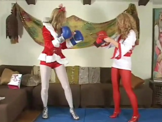 Pay for Queen of Tights 8 p3 Kitty Claus vs Carol Anne