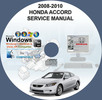 Thumbnail Honda Accord 2008-2010 Service and Repair Manual