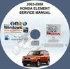 Thumbnail HONDA ELEMENT 2003-2008  SERVICE REPAIR MANUAL
