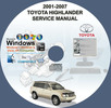 Thumbnail Toyota Highlander 2001-2007 Service Repair Manual