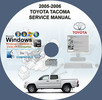 Thumbnail TOYOTA TACOMA FACTORY SERVICE REPAIR MANUAL 2005-2008