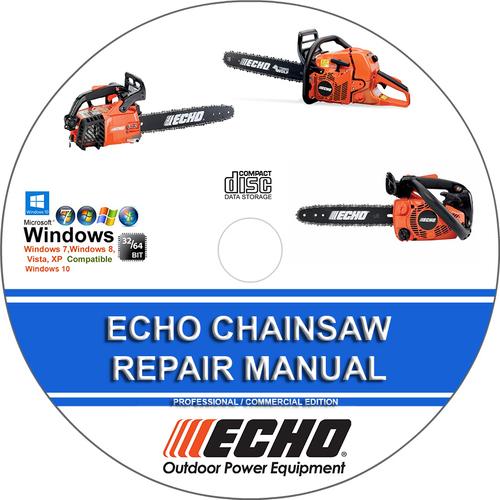 Echo cs-60s chainsaw service shop repair manual chain saw 2 stroke.