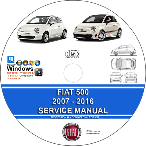 Pay for Fiat 500 500C Abarth 500E 2007 - 2016 Service Repair Manual
