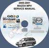 Thumbnail 2000 - 2001 MAZDA MPV SERVICE REPAIR MANUAL