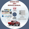 Thumbnail Dodge Ram 1500 2500 3500 4000 Ram 2001 2002 Service Manual