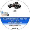 Thumbnail Can AM Spyder F3 F3T 2015 - 2018 Service Repair Manual