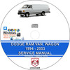 Thumbnail Dodge Ram Van Wagon 1994 - 2003 Service Repair Manual