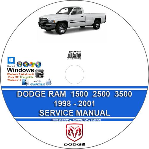 Pay for Dodge Ram 1500 2500 3500 1998 - 2001 Service Repair Manual