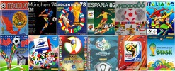 Thumbnail Panini albums, from Mexico 70 to Brazil 2014
