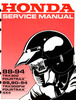 Thumbnail Honda TRX300 TRX300FW Fourtrax Service Manual 1988-1994