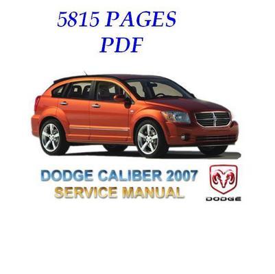Pay for DODGE CALIBER 2007  Full Service & Repair Manual