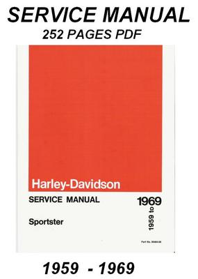1959 -1969 Harley Davidson Sportster Service Manual