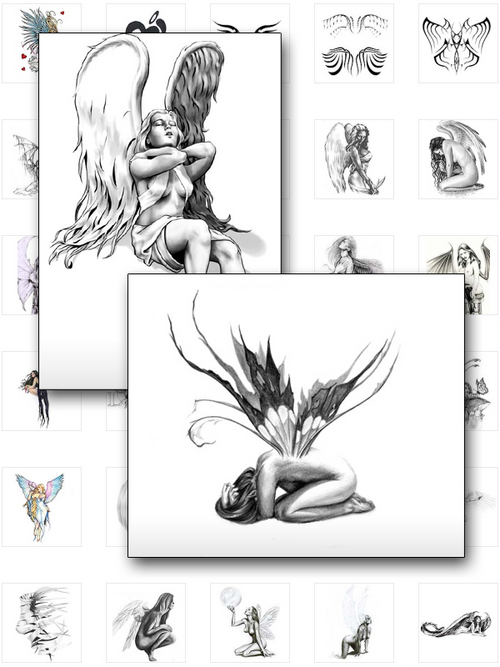 over 75 rare angel tattoo designs download ebooks. Black Bedroom Furniture Sets. Home Design Ideas