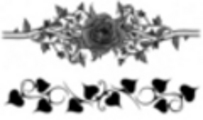 Thumbnail 2 x Tattoo flashes - Rose and leaves Armbands