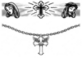 Thumbnail 2 x Tattoo flashes - Jesus and Cross/Winged Cross Armbands