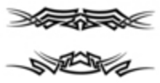 Thumbnail 2 x Tattoo flashes - Tribal Armbands