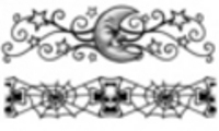 Thumbnail 2 x Tattoo flashes - Skulls/Stars and Moon Armbands