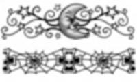 Thumbnail 2 x Tattoo flashes - Skulls/Stars and Moon Armbands