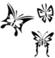 Thumbnail 3 x Tattoo flashes - Butterflies