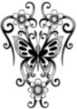 Thumbnail Tattoo flash - Butterfly with flowers and tribal