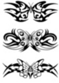 Thumbnail 3 x Tattoo flashes - Butterflies with tribals - Lowerback