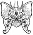 Thumbnail Tattoo flash - Skull-Butterfly