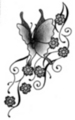 Thumbnail Tattoo flash - Butterfly with flowers