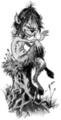 Thumbnail Tattoo flash - Elve on a tree