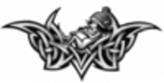 Thumbnail Tattoo flash - Elve with Tribal