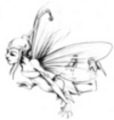 Thumbnail Tattoo flash - flying Fairy