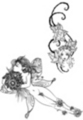 Thumbnail 2 x Tattoo flashes - Fairies with flowers