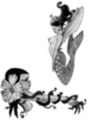 Thumbnail 2 x Tattoo flashes - Fairy with flower/ Mermaid-Fairy