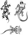 Thumbnail 3 x Tattoo flashes - Tribal Geckos